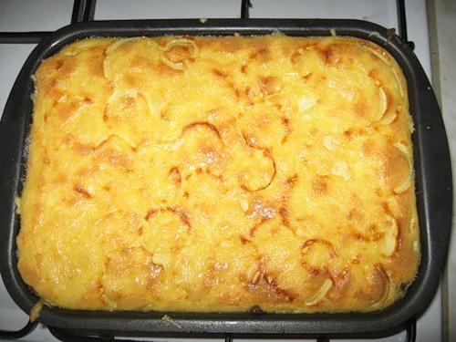 картошка запеченная в духовке с сыром и с фаршем