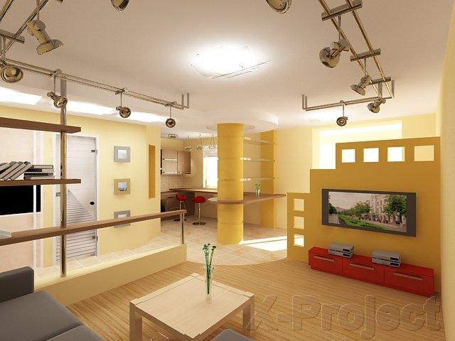 Дизайн квартиры-студии площадью 50 м2