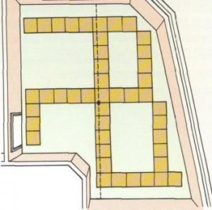 Раскладка плиток при сложном периметре комнаты