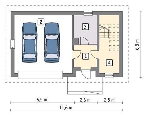 План гаража на 2 машины